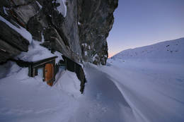 Du skal vite hvor hytta er for å finne den vinterstid - Foto: Rune Skogheim