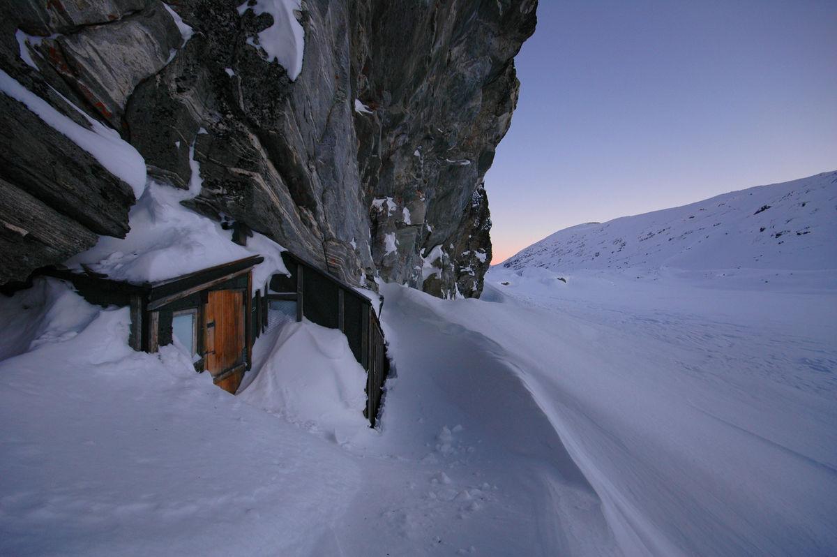 Du skal vite hvor hytta er for å finne den vinterstid