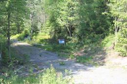 På Blekabergåsen kommer vi til startpunktet for turstien til Uksåsen.  - Foto: Hilde Roland