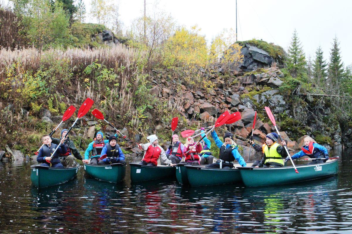 Kanopadling på Flekkern under Newton Camp 2014