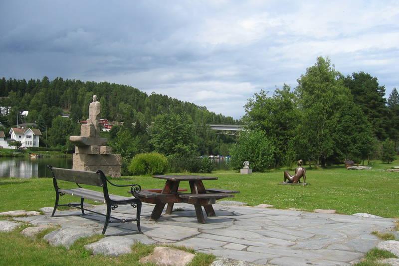 Skilpturenpark in Akkerhaugen