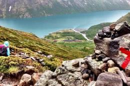 Utsikt mot Memurubu - Foto: Marita Malmo