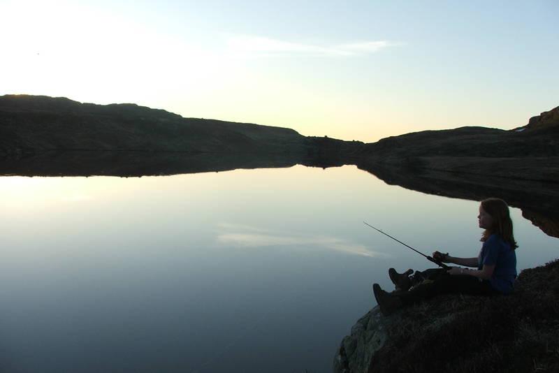 Fisking ved Melands Grønahei