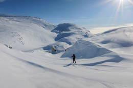 Vintereventyr på Høgabu. -  Foto: Karl H. Olsen