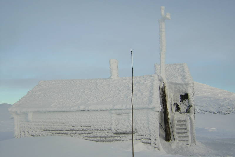 Klemsbu på vinterstid