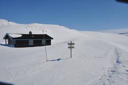 Nydelig vinterdag ved Slettningsbu - Foto: Hallgrim Rogn