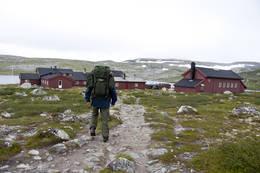Turen fra Fagerheim til Krækkja er unnagjort, og vi ankommer Krækkja  - Foto: Frode Drønen