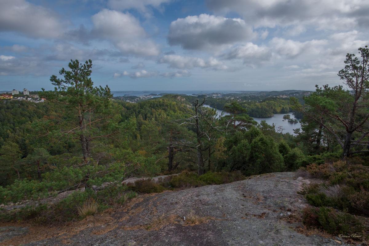 Utsikt fra Øylihei mot Fiskåvannet