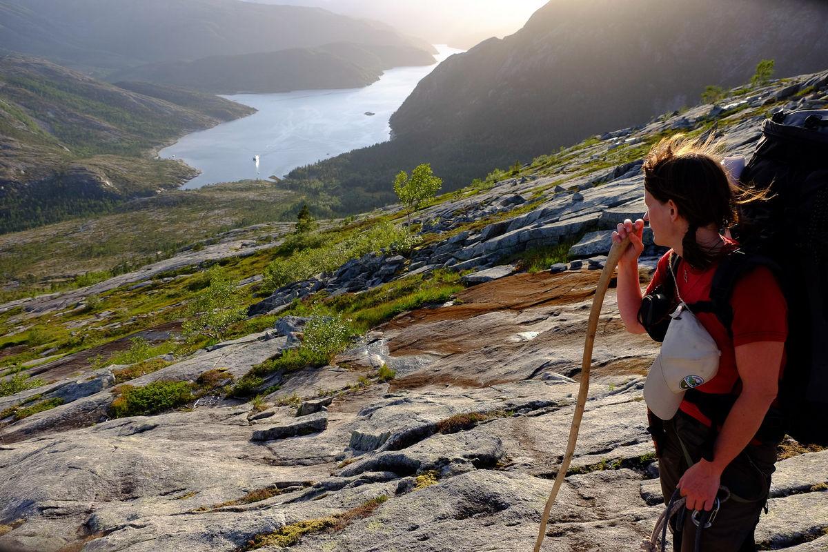 Utsikt mot Austerfjorden og Innervisten