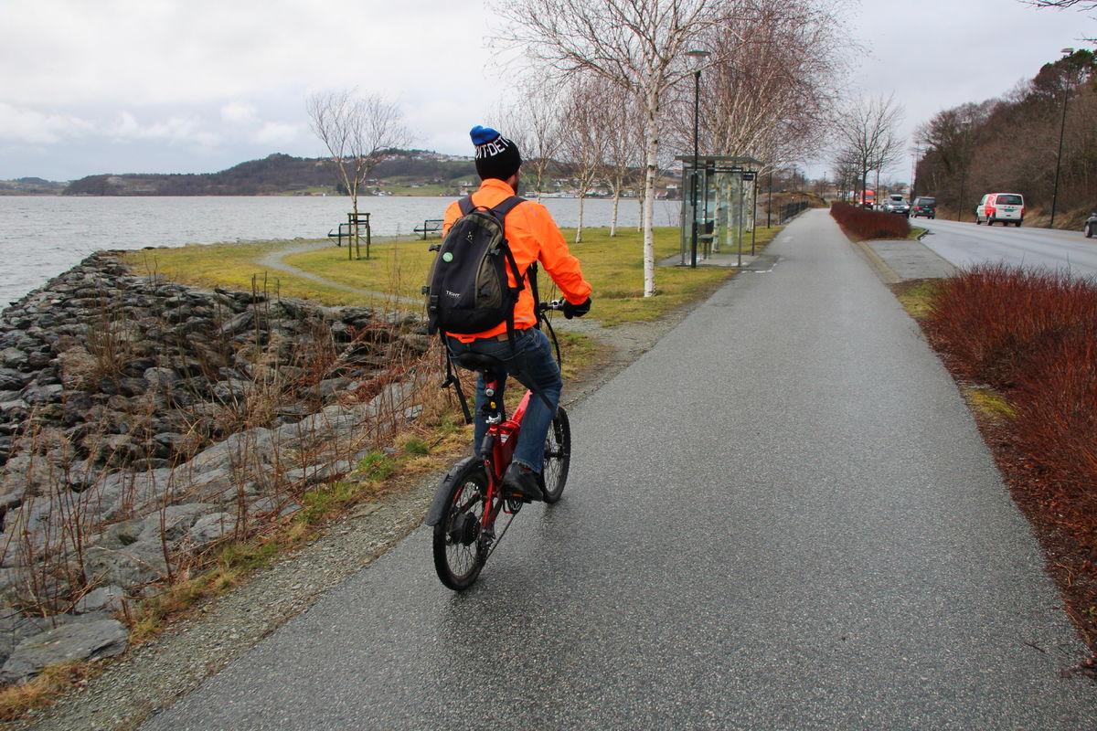Sykkelveien langs Hafrsfjorden