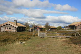 Brekkeseter på Høvringen i Rondane -  Foto: Marie Brøvig Andersen