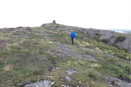 Siste stykket mot toppen. Vardafjellet -  Foto: Aslaug Dommersnes