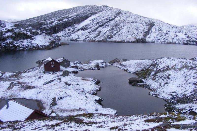 Tidlig vinter ved Volahytta