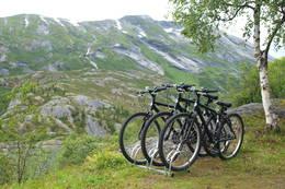 På Kaldhusseter er det sykkel tilgjengelig på utleiehytta - Foto: Åsmund Steen