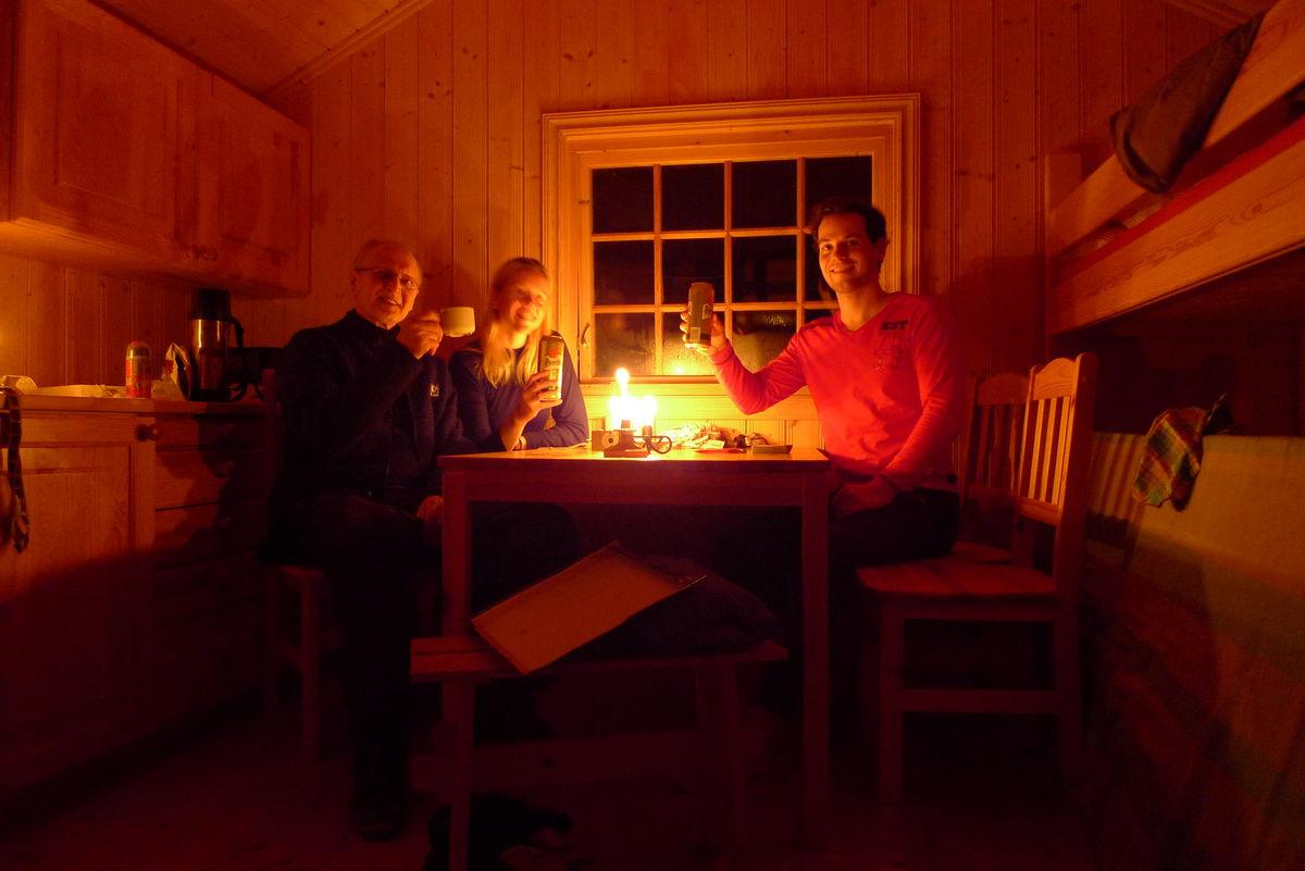 Kjøkkenkroken i annekset på Granbustøyl