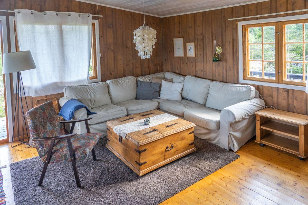 Hjørne sofa i stuen