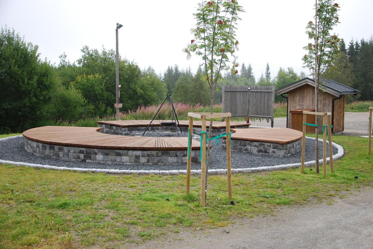 Fin bålplass på Gåsbu (start og mål for denne turen)