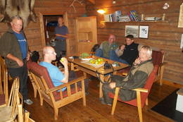 Kveldskos på Torsdalsbu - Foto: Aust-Agder Turistforening