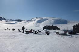 Hellevassbu turisthytte påske 2012. - Foto: Camilla Høyland