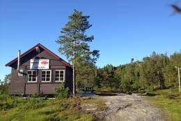 Turen starter ved skistadion i Lundsbustaden. I bakgrunnen, toppen av Torsbustaden alpinanlegg. I den retningen går også turen mot Bukkhaugen. - Foto: levangeridrett.no