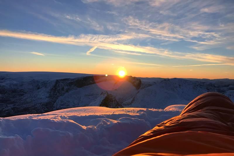 Sov under åpen himmel på Melderskin, Dronninga blant Hordalandsfjella!