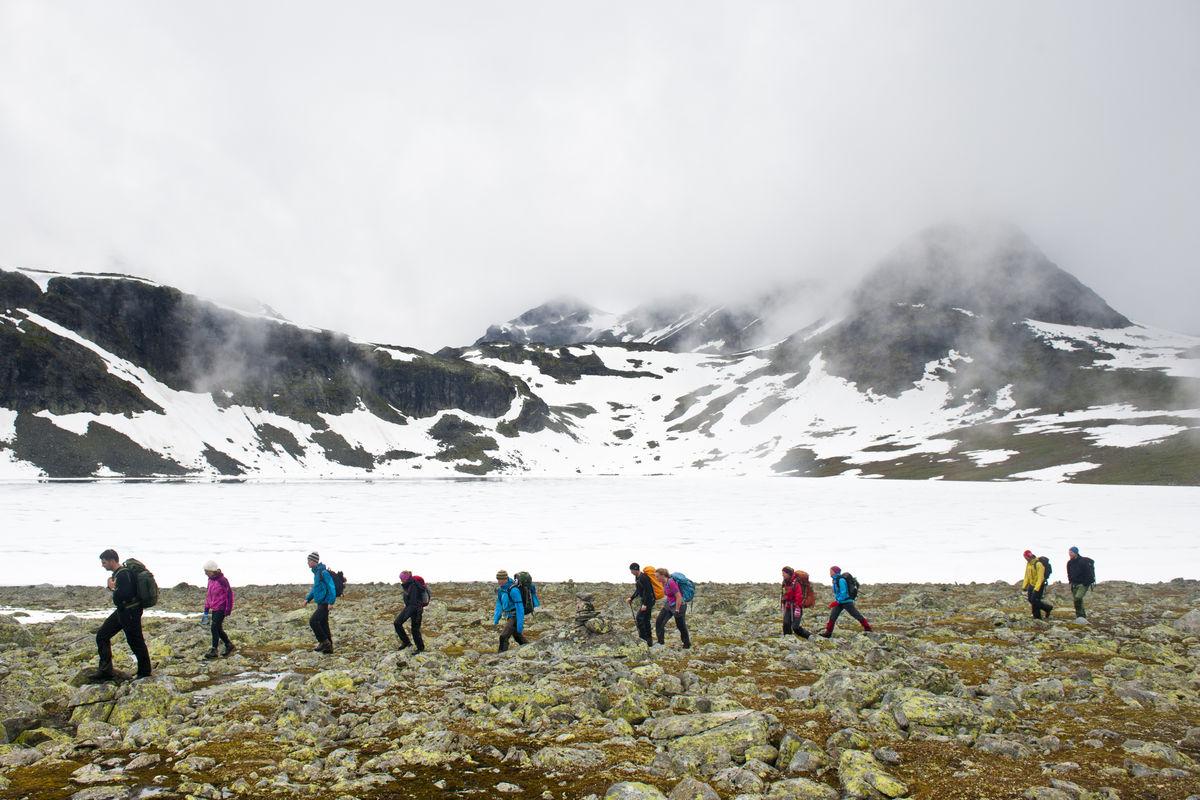 Siste etappe går langs T-merka sti fra Torfinnsbu til Eidsbugarden.