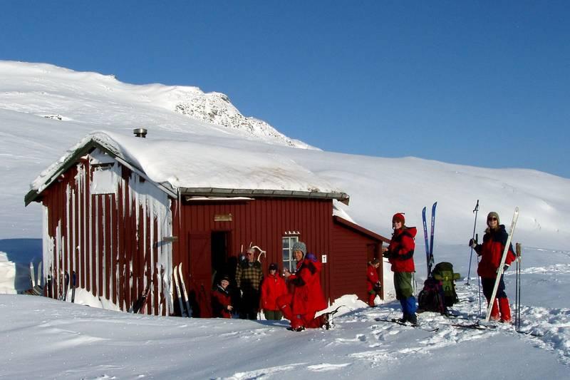 Terrenget rundt hytta er fantastisk både sommer og vinter