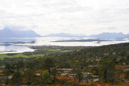 Utsyn fra Gullskogheia og mot Steigen - Foto: Kjell Fredriksen