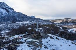 Utsikt mot vest til Hopan og Hopøya. - Foto: Kjell Fredriksen