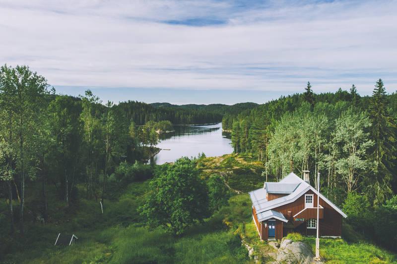 Utsikten fra Bøvelstad mot Børtevann