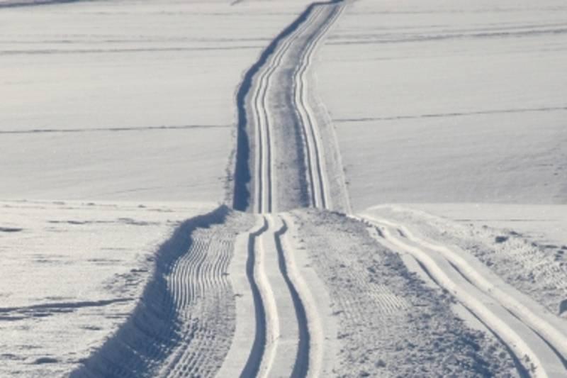 Skisporene ser ut som dette til tider.