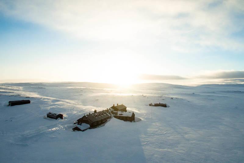 Sandhaug ligger midt på Hardangervidda