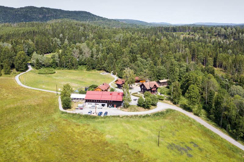 Hytta ligger vakkert til i Bærumsmarka