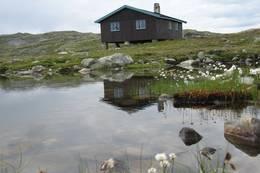 Slettningsbu er utgangspunkt for turen. -  Foto: Camilla Horten