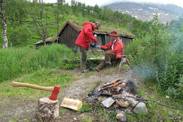 Argaladhytta sommeren 2009  -  Foto: Gunder Garsmark