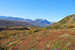 Utsikt fra Hugakollen mot Grindadn i Vang -  Foto: Hallgrim Rogn
