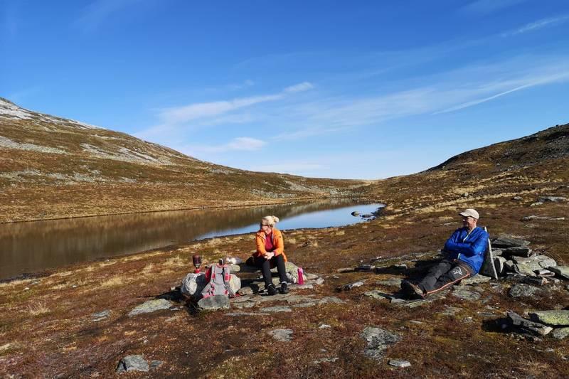 Pause ved Svinestrandsvatnet