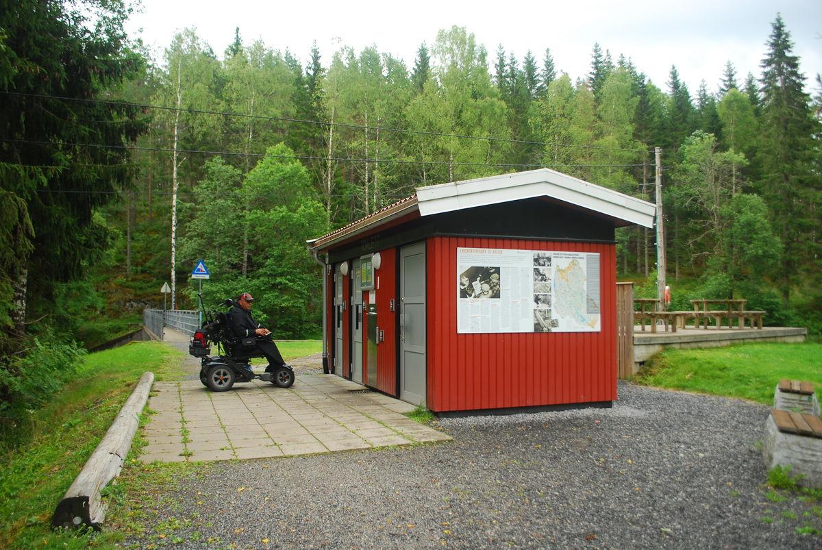 Toalettanlegget ved Mønevann.