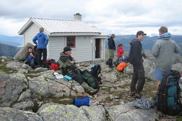 Pause ved Breidablikk - Foto: Stord-Fitjar Turlag