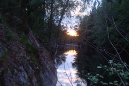 Utsikt fra kanotur på Øvresaga - Foto: K Haregg