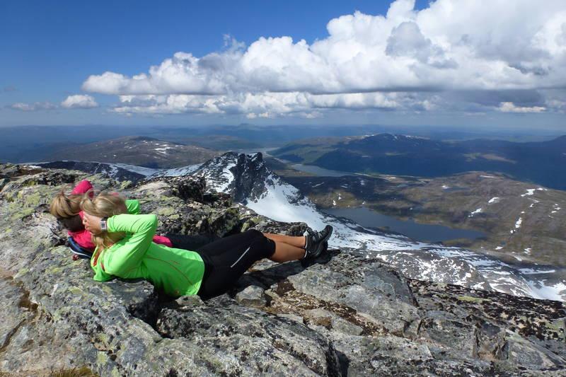 Utsikten fra Snotas topp er vakker.