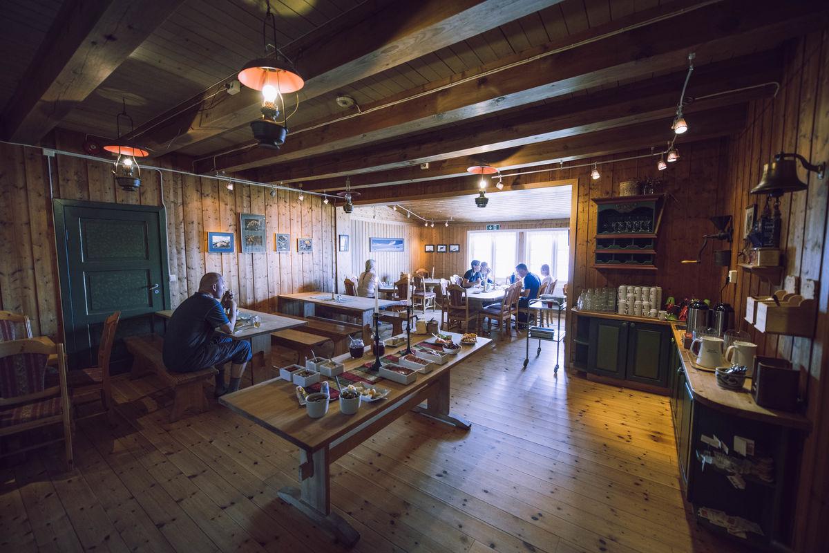 Spisesalen på Rauhelleren