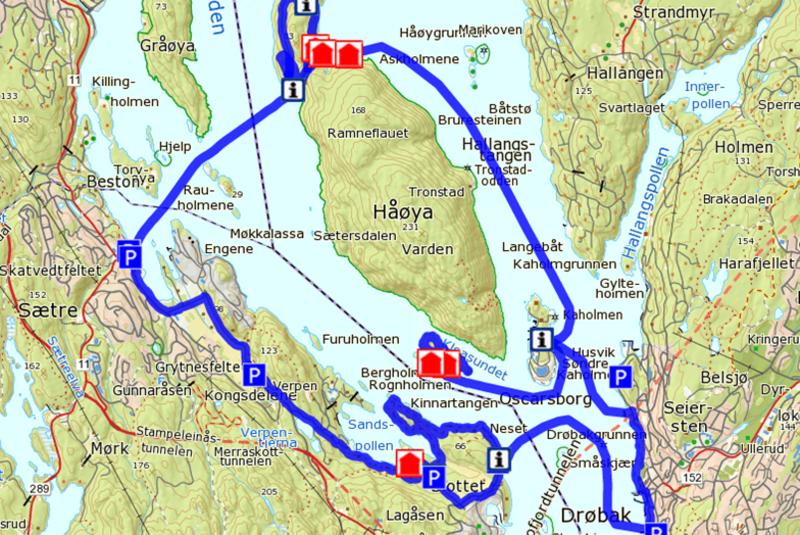 Jacobineruta med alle sine 4 deler i ett. Del 2 er fORSVARSbiten fra Drøbak over Oscarsborg til Bergholmen. Den tar for seg de spennende krigsminnene.