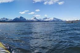 På vei over mot Husøya -  Foto: Truls Johnsen