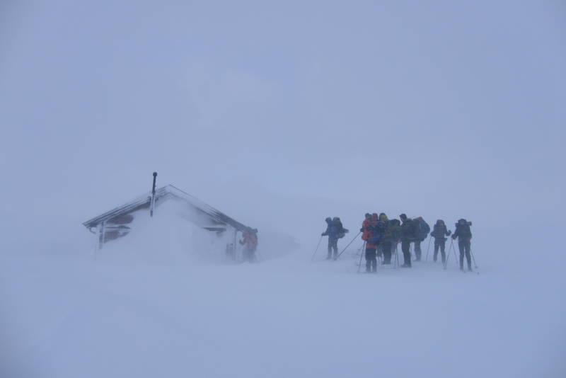 Vinterværet kan være røft her høyt til fjells.