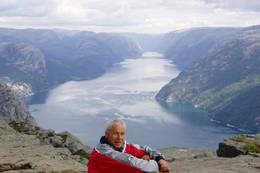 Utsikt Preikestolen Lysefjorden - Foto: Hilde Løken Magnussen