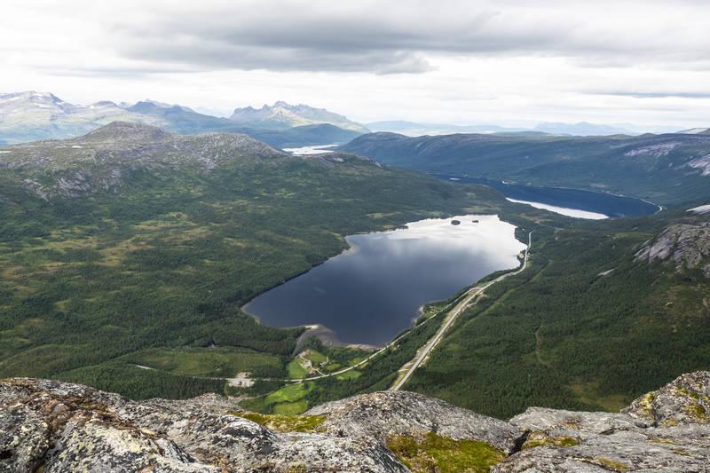 Utsikt nedover Sagvassdalen