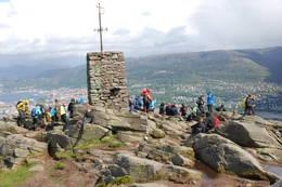 Glimt fra 7-fjellsturen over Løvstakken. - Foto: Torill Refsdal Aase