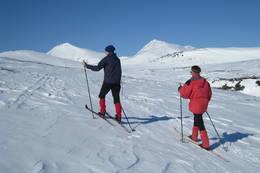 Forlenge turen innover Halsbekkdalen, umerka, med flere muligheter både for topptur og i dalene.  -  Foto: Arnt Vasli