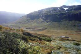 Utsikt tilbake mot Storstølen i Skakadalen. -  Foto: Ole Westerby